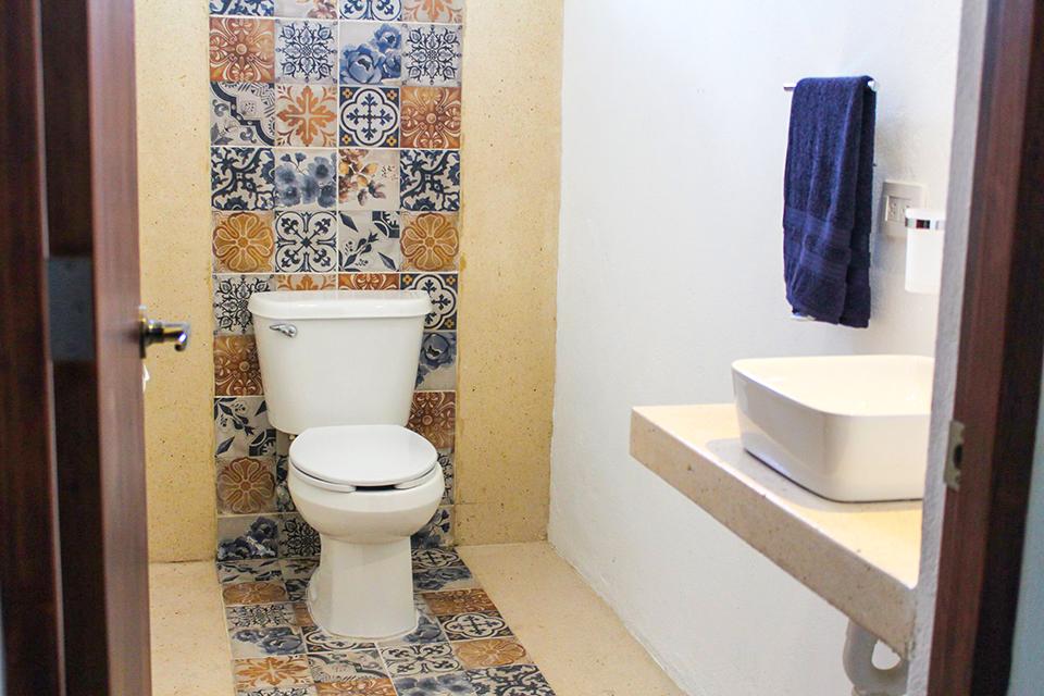 remodelación baño casa tradicional cozumeleña