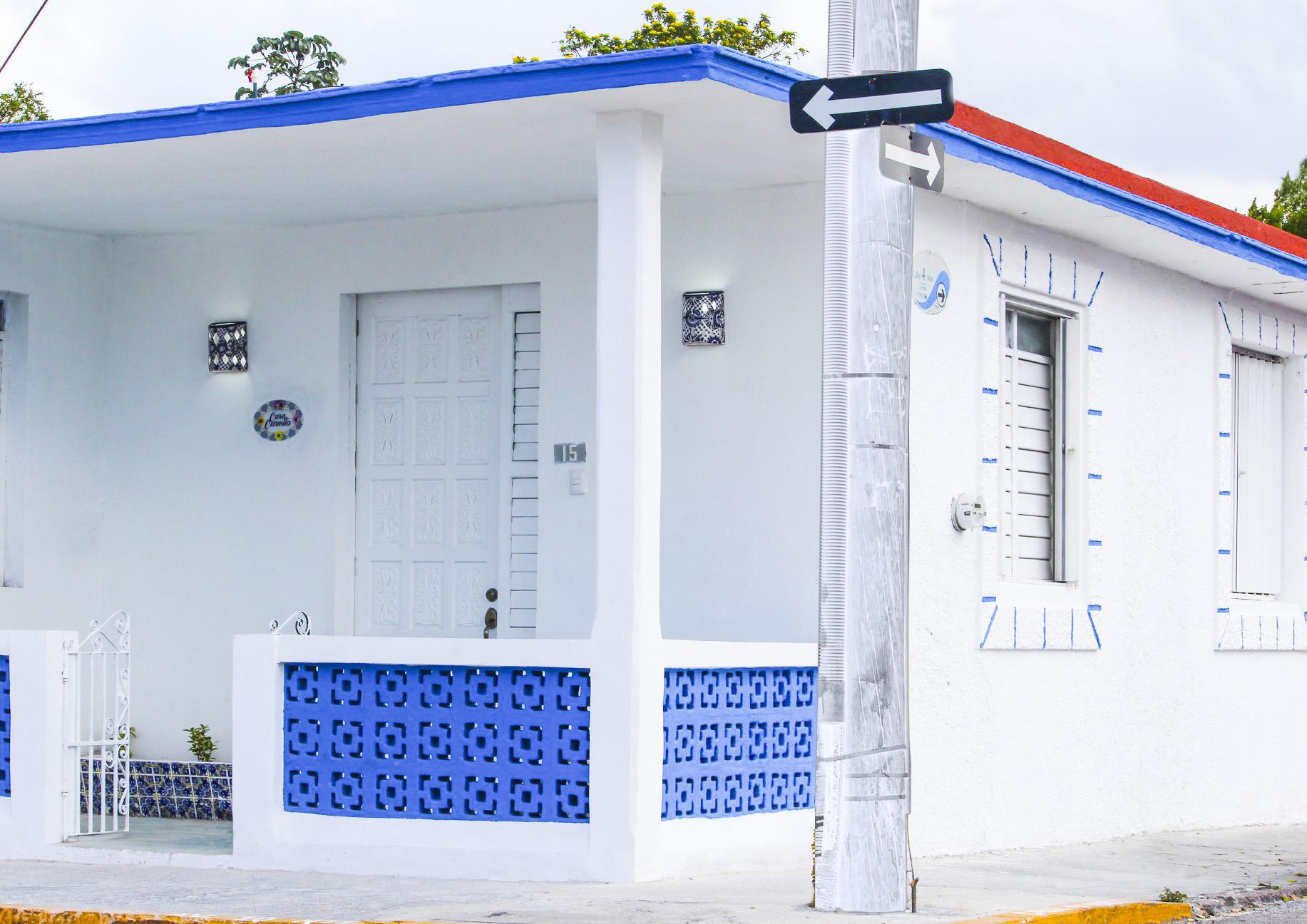 casa blanca tradicional en cozumel